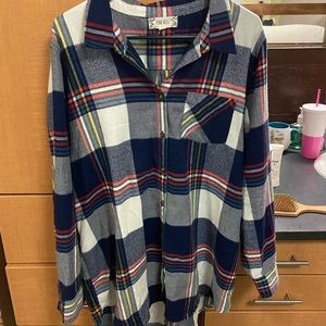 Long flannel button up